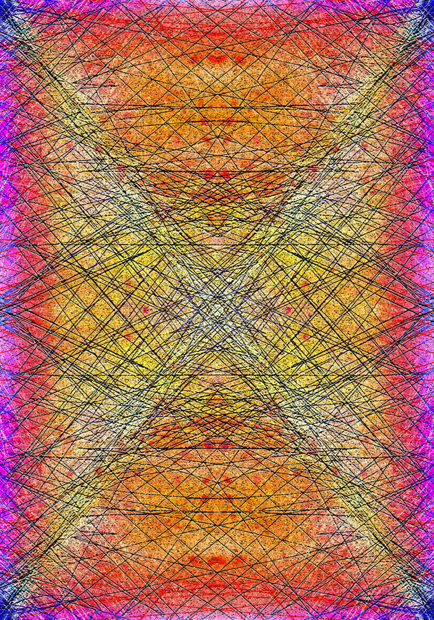 Abstract Colors. An experimental abstract digital painting vector illustration
