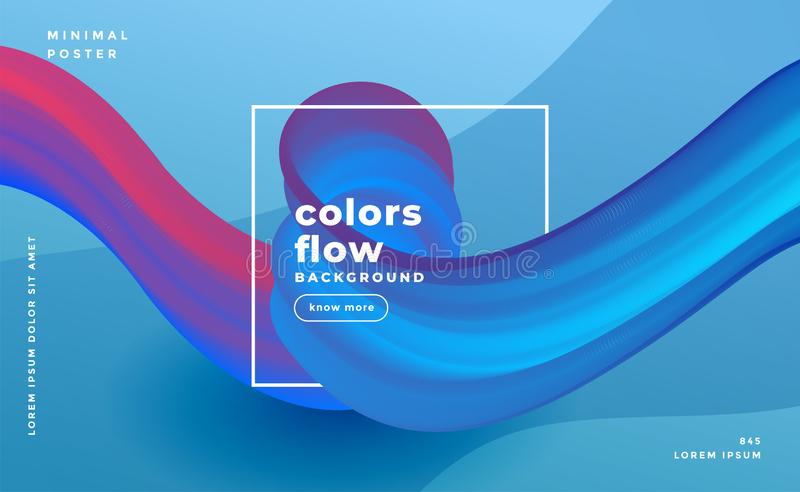 Abstract colors flow wave composition background. Vector royalty free illustration