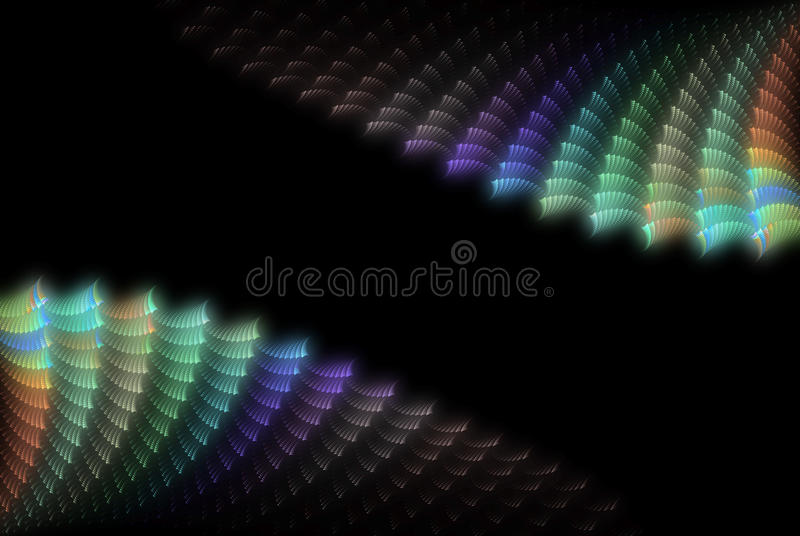 Abstract colour shell background stock image