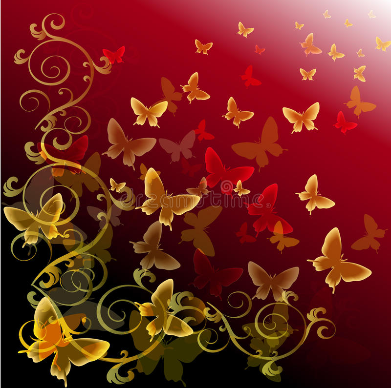 Abstract colourful background with butterflies royalty free illustration