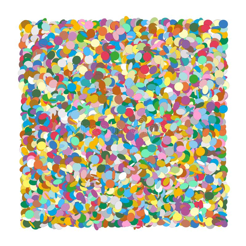 Confetti Heap - Formed as Squarish Background. Colorful Vector Illustraton!. For Your Party Invitation Background Design or other Festive Graphic Backdrops royalty free illustration