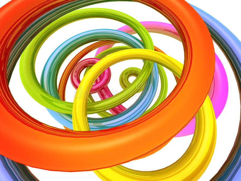 Download Abstract Colourful Torus Background Stock Illustration - Illustration: 12534275