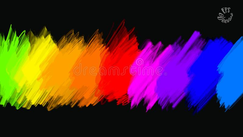 Abstract colours full palette banner. Beautiful hand drawn vector sketch. Colorful elements for social media and print decoration vector illustration