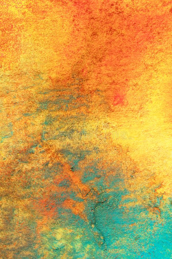 Abstract Combination of Glowing Colors. Abstract painting using a combination of glowing reds, oranges, bluegreens and Yellows. Fit for many applications vector illustration