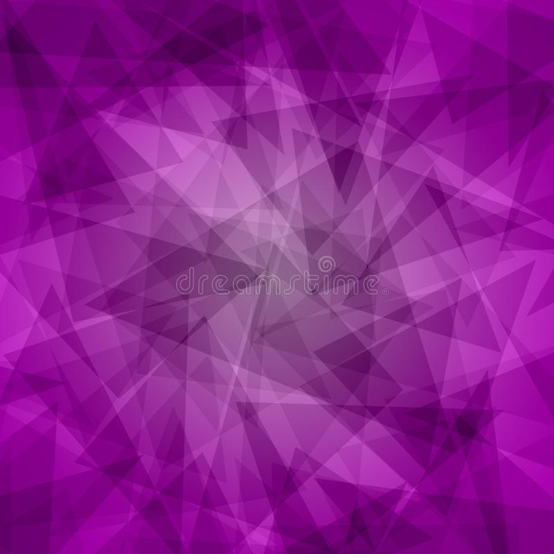 Background of linked triangles. With a predominance of colors, purple, violet and lilac
