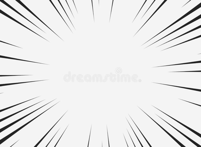 Abstract comic line of copy space with white background. You can use for highlight text of space for ad, poster, template royalty free illustration