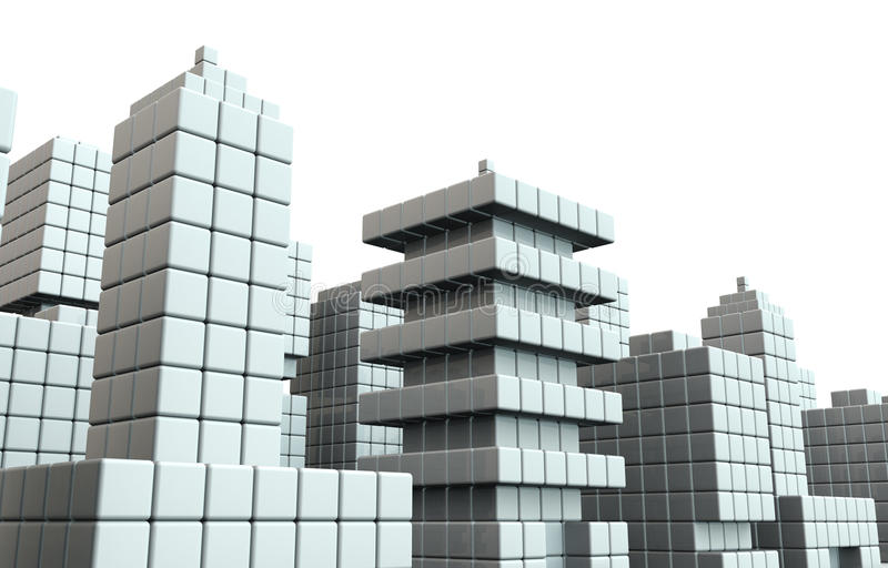 Download Abstract Commercial Building Background Stock Illustration - Image: 32287305