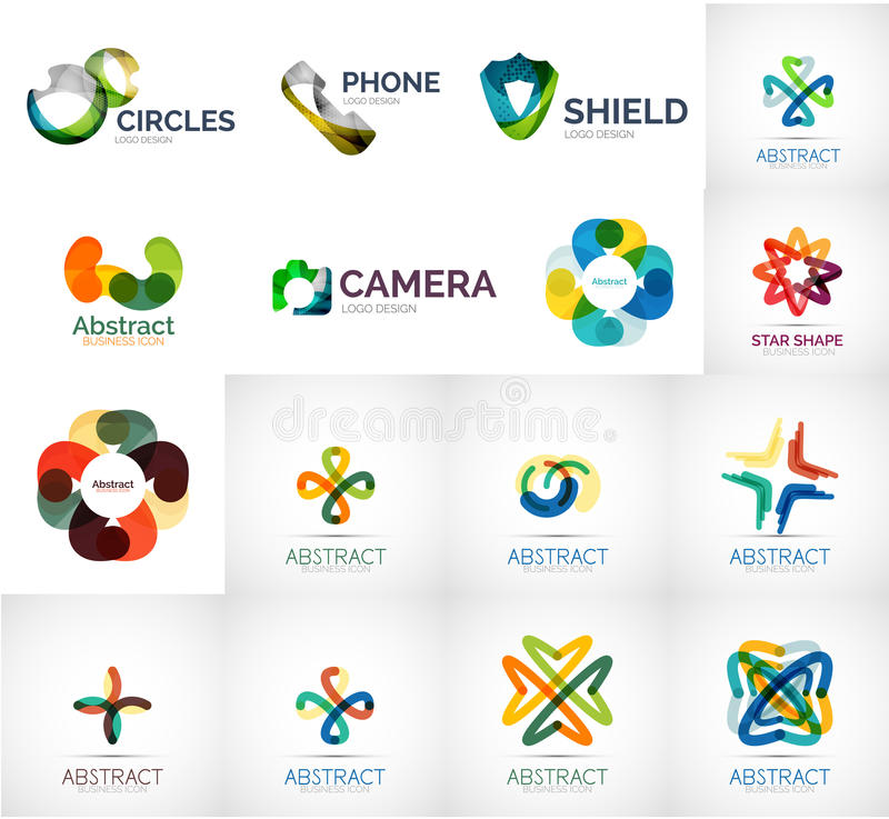 Abstract company logo collection vector illustration