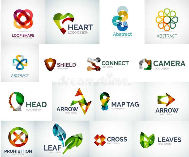 Abstract company logo collection royalty free illustration