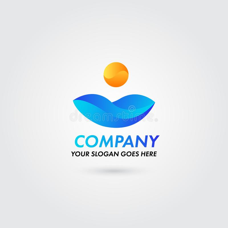 Abstract company logo color nature concept template stock illustration