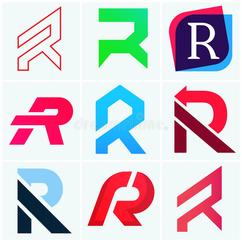 abstract company r letters sign vector logos icon pack design stock rh dreamstime com dollar sign logos sign logo maker oak harbor wa