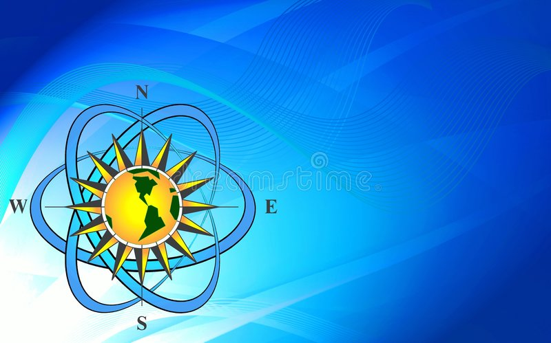Abstract compass background royalty free stock photography