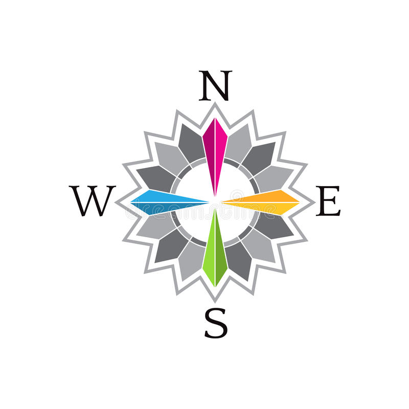 Abstract Compass Rose image logo royalty free illustration