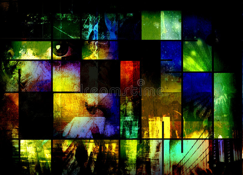 Abstract Composition. Of color and various elements