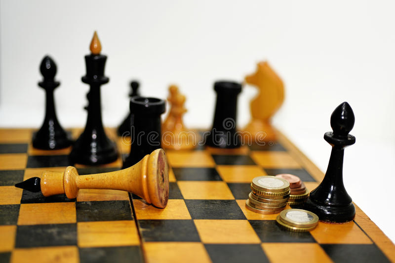 Abstract composition of chess figures. royalty free stock image