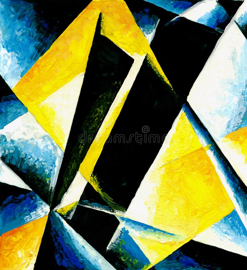 Abstract composition of color planes royalty free illustration