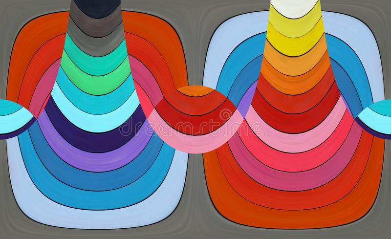 Abstract composition - colored stripes. Abstract composition - colorful shapes - color spectrum vector illustration