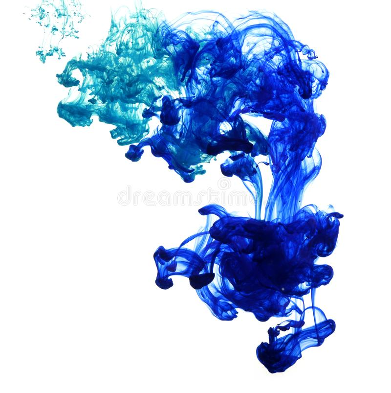 Abstract composition of mixed ink stock photography