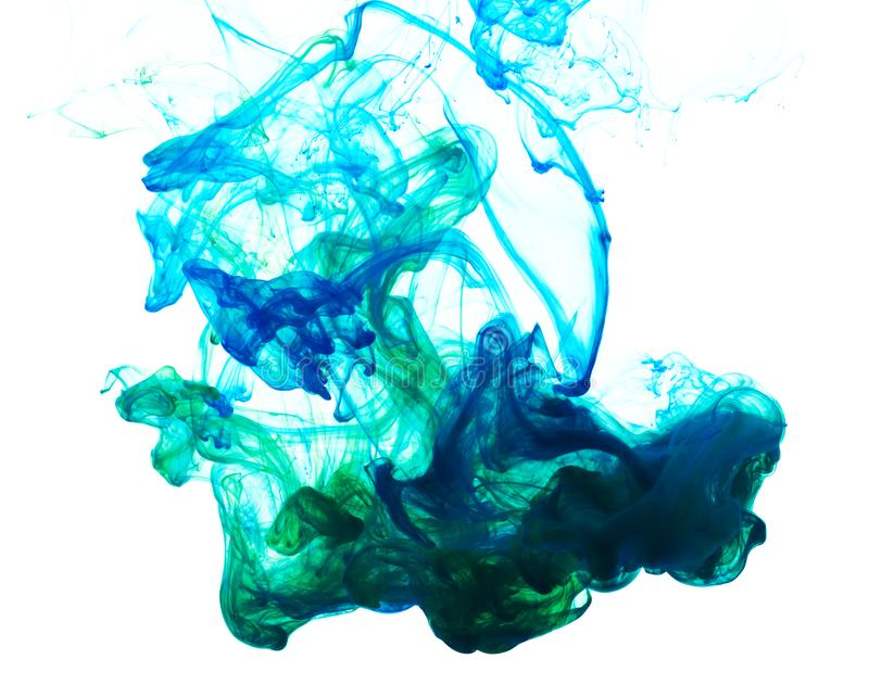 Abstract composition of mixed ink stock images