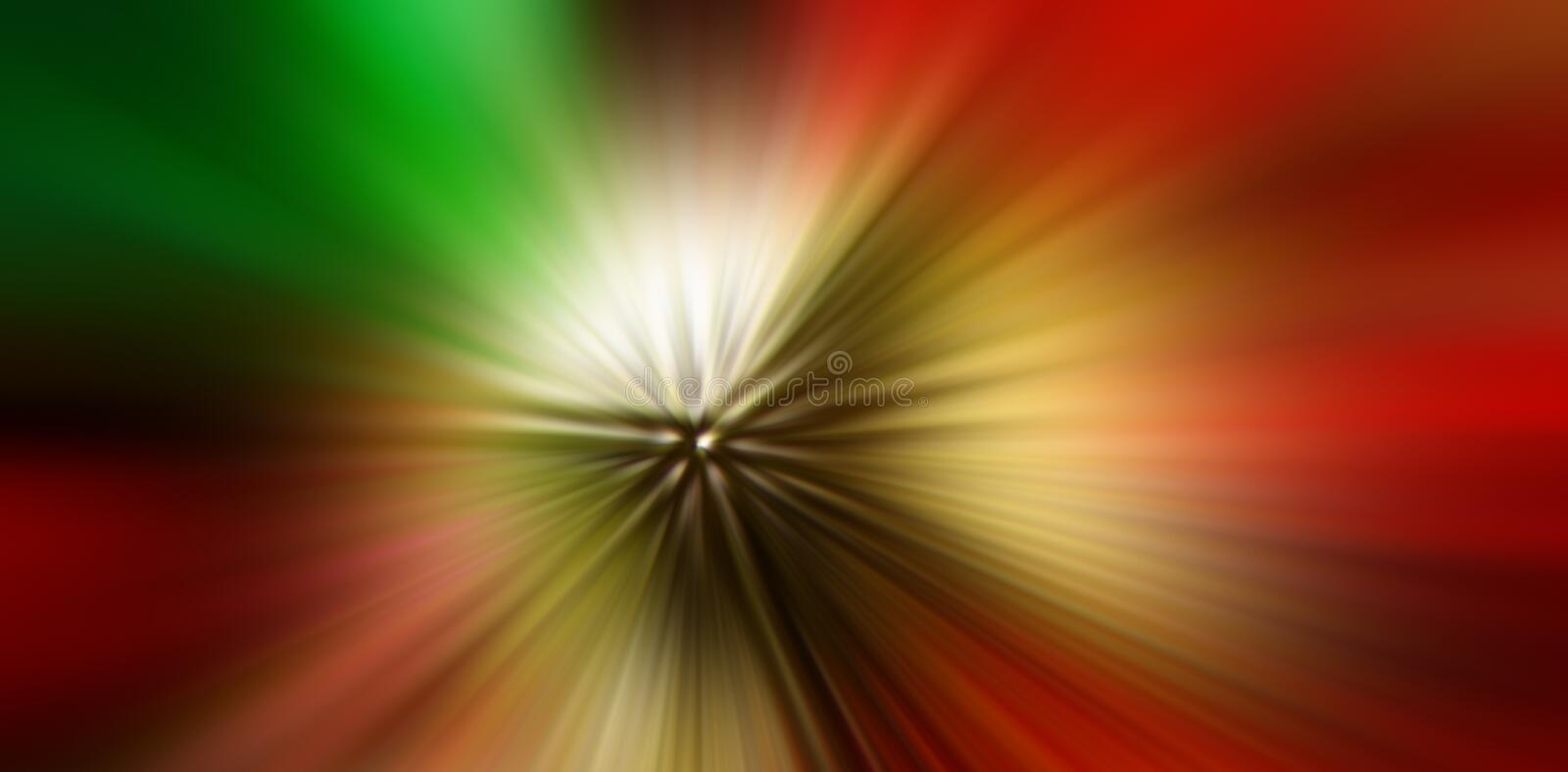 Abstract composition of radial colored rays. Blurred background. Element of design. WEB BANNER royalty free stock photography