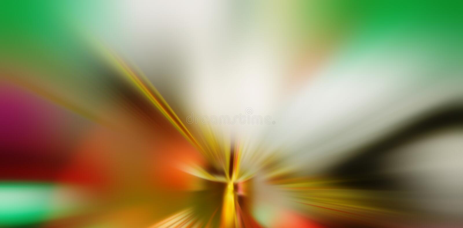 Abstract composition of radial colored rays. Blurred background. Element of design. WEB BANNER royalty free stock image