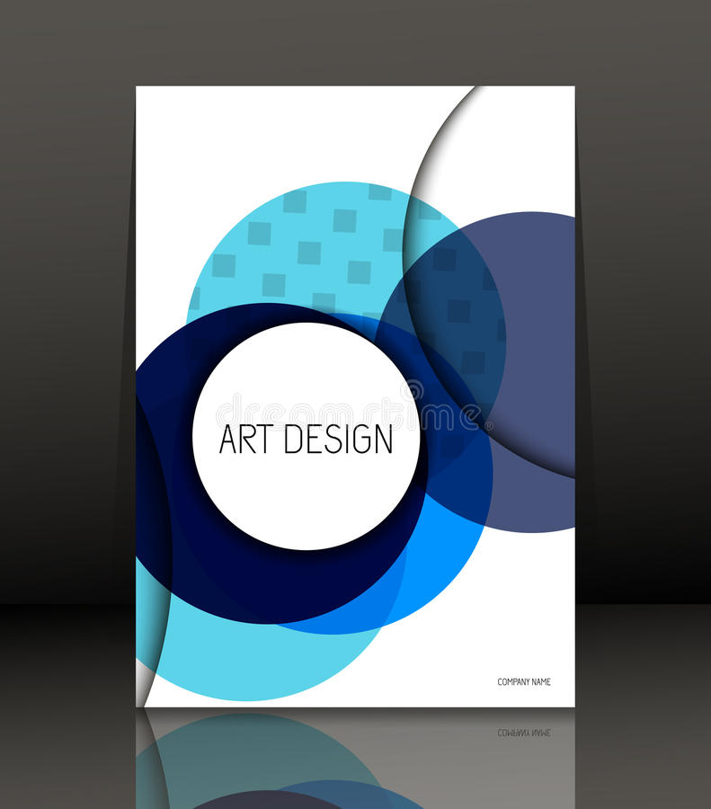 Abstract composition.Template Design for flyer. royalty free illustration