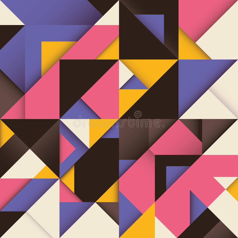Abstract composition with triangles. Abstract composition with colorful triangles vector illustration