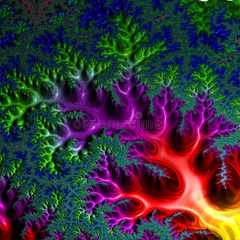 Abstract, computer, fractal design. Fractals are infinitely complex patterns that are self-similar at different scales. 3D-. Abstract, computer, fractal design stock illustration