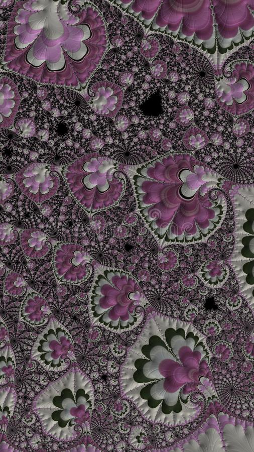 Abstract computer generated fractal background resembling quilt. Abstract computer generated fractal background in hues of pink and grey that resembles a quilt stock images