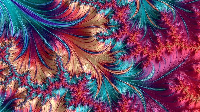 Abstract Computer geproduceerd Fractal ontwerp stock foto's