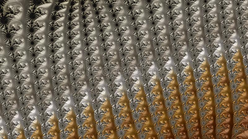 Abstract Computer geproduceerd Fractal ontwerp stock illustratie