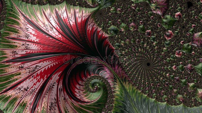 Abstract Computer geproduceerd Fractal ontwerp vector illustratie