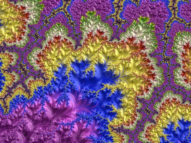 Abstract Computer geproduceerd Fractal ontwerp royalty-vrije illustratie