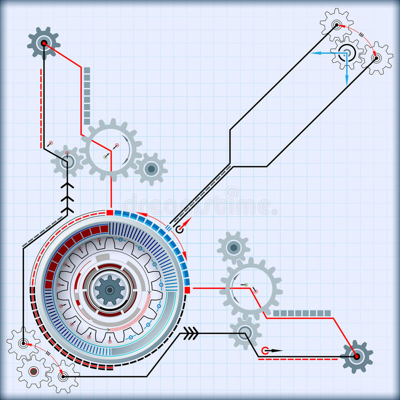 Free Abstract Computer Graphic Kinematics Of Futuristic Technological Device Royalty Free Stock Photo - 54960435