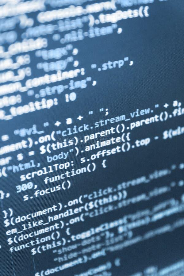 Abstract computer script code. stock photo