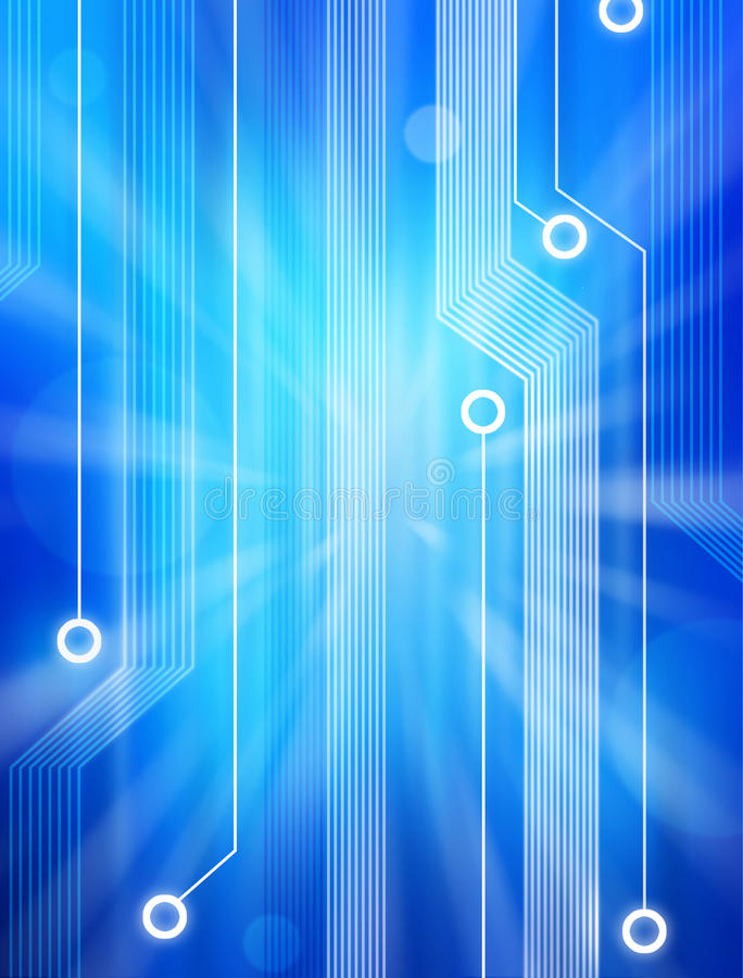 Abstract Computer Technology Circuit Background stock illustration