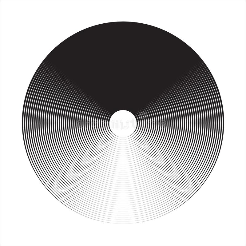 Concentric Circle Elements Backgrounds. Abstract circle pattern. Black and white graphics. royalty free illustration