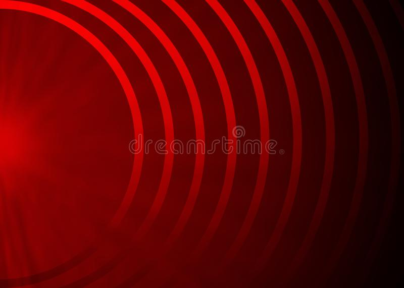 Abstract Concentric Half Circles in Dark Red Background stock photography