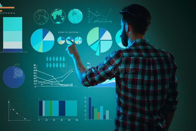 Abstract concept bedrijfssucces, de groei en globalisering stock afbeeldingen