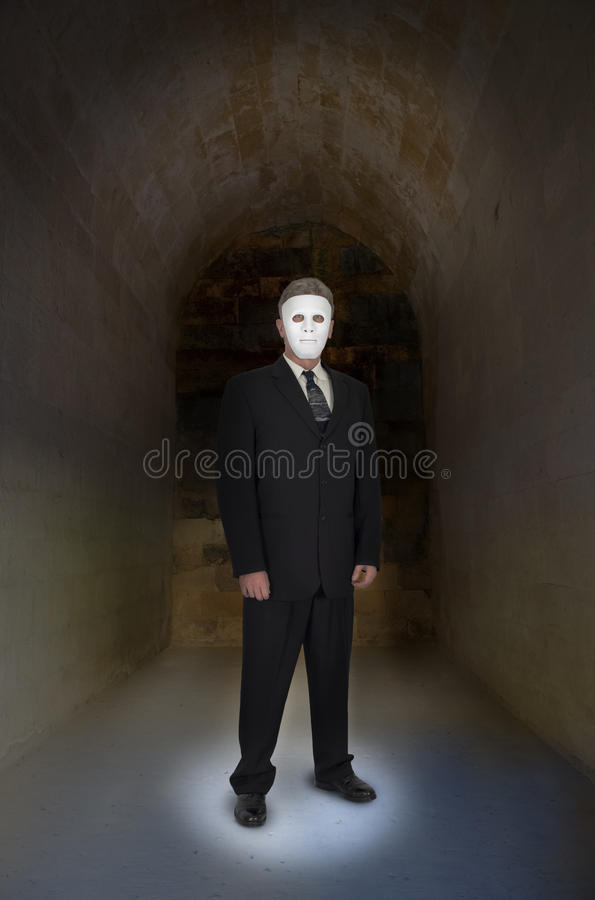 Abstract Concept Businessman with no Face, Mask, stock images