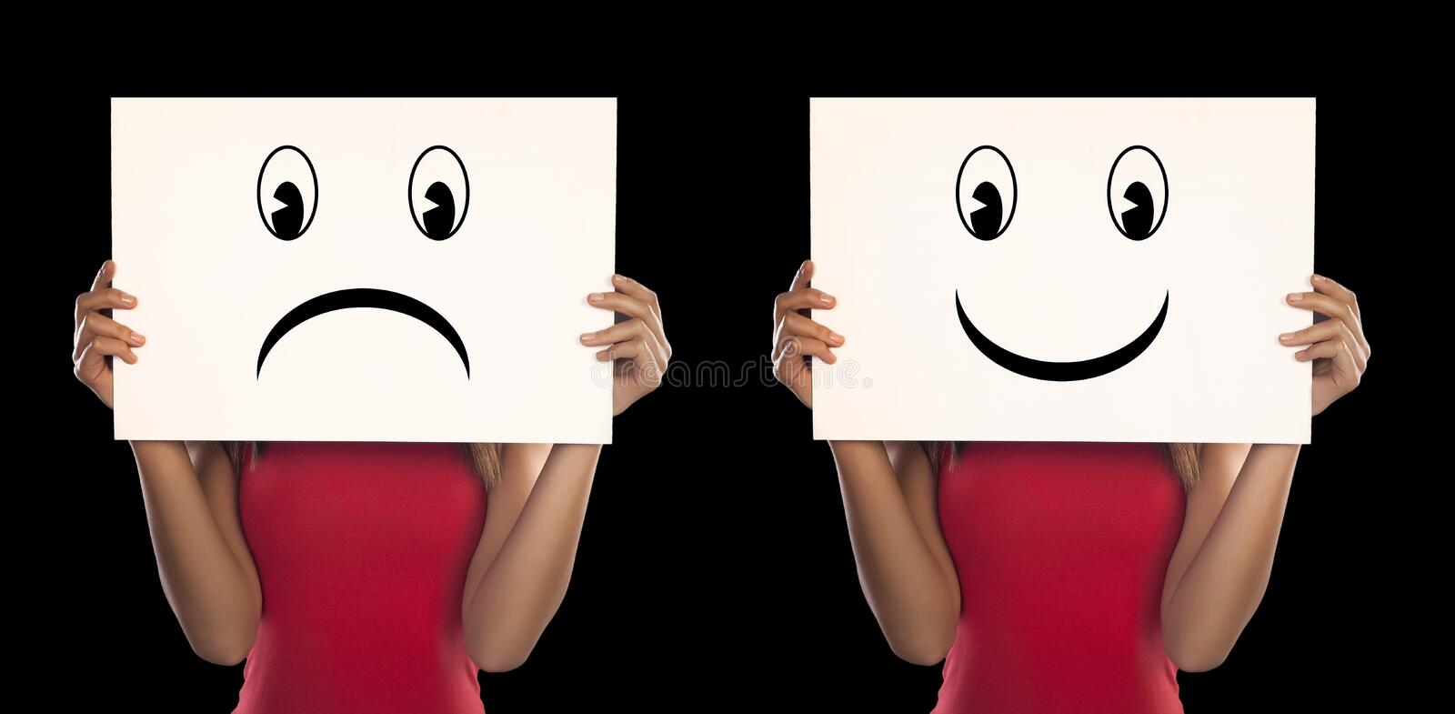 Abstract concept for depression. stock images