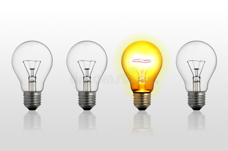 Download Abstract Concept Of Lightbulbs Stock Images - Image: 18806264