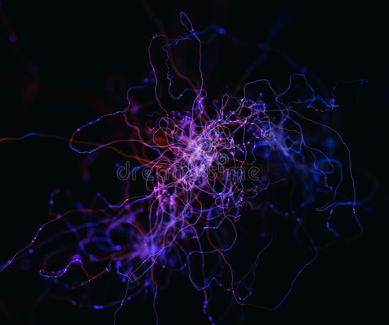 Abstract Concept Neurons vector illustration