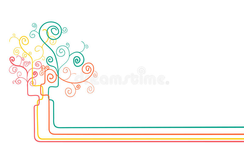 Abstract concept tree background stock photos