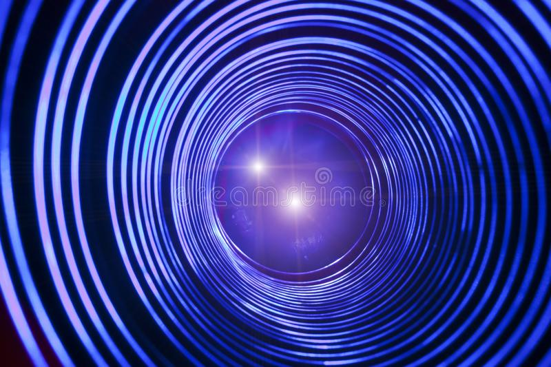 Abstract conceptual background with futuristic high tech wormhole tunnel.  royalty free stock images