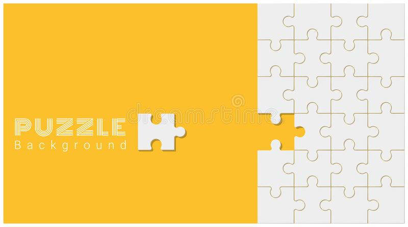Abstract conceptual background with incomplete jigsaw puzzle. Vector , illustration royalty free illustration