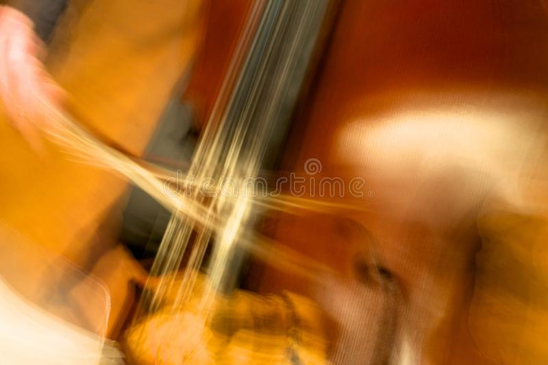 Abstract Concert upright bass in performance royalty free stock images