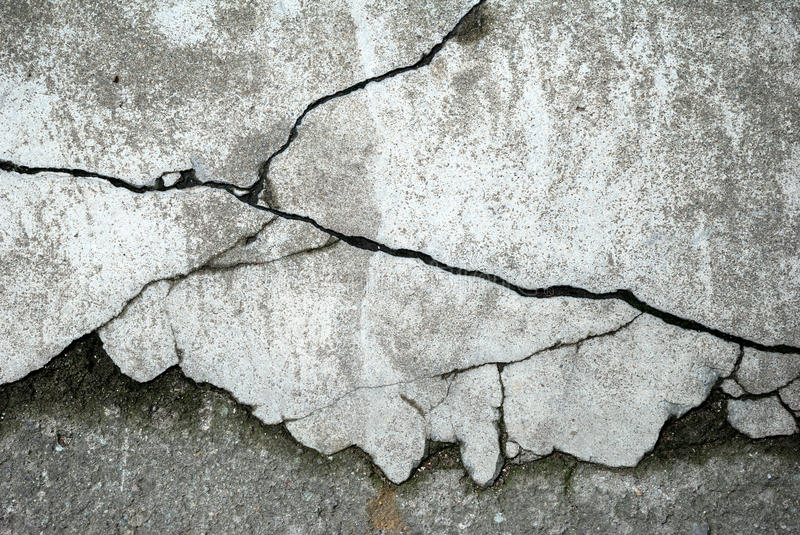 Abstract concrete floor background. With cracks royalty free stock photography