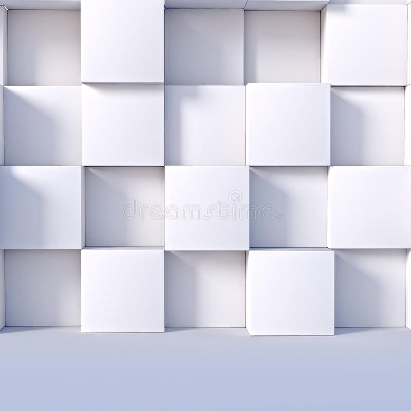 Abstract concrete minimalist structure stock photo