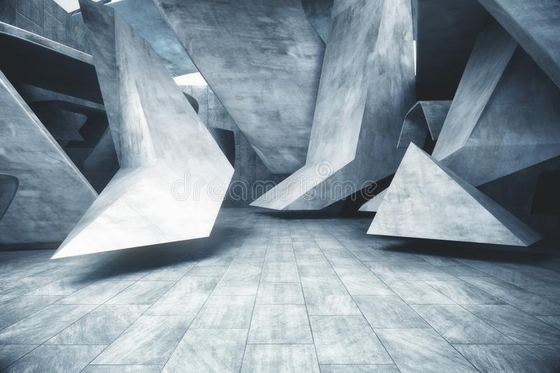 Abstract concrete room royalty free stock images